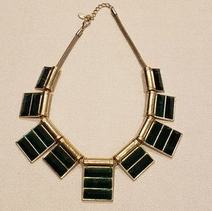 ZARA Green and Gold Statement Necklace